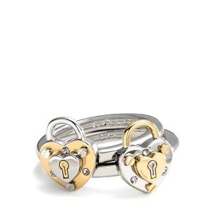 Coach | Padlock Ring Set
